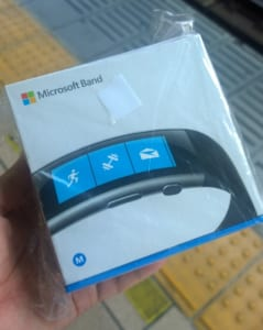 Microsoft Band2 パッケージ