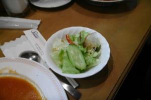 シーフードアメリカンソース(サラダ付) 1400円のサラダ